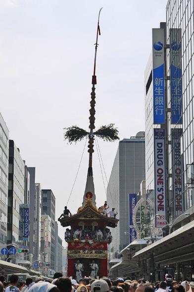 京都祇園祭の曳き初め