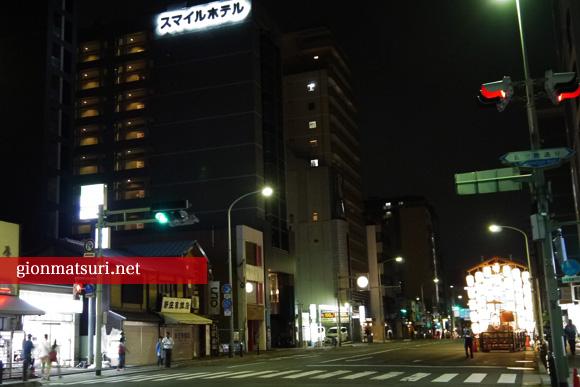 スマイルホテル京都四条と宵山